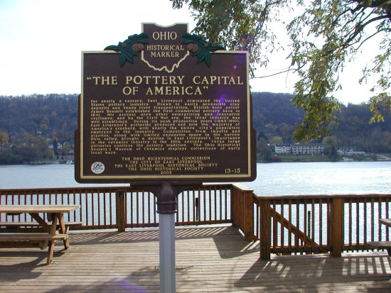 13-15 The Pottery Capital of America Marker