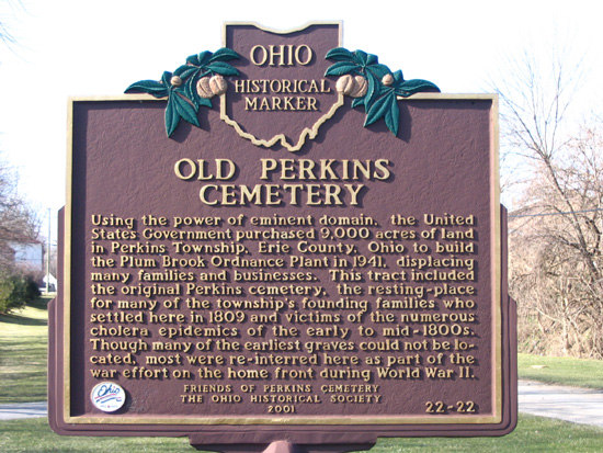 22-22 The Perkins Cemetery Marker