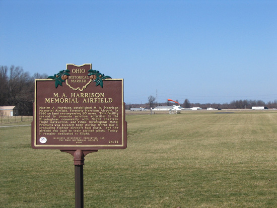 24-22 M.A. Harrison Memorial Airfield and Marker