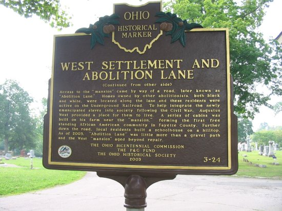 3-24 West Settlement and Abolition Lane Marker