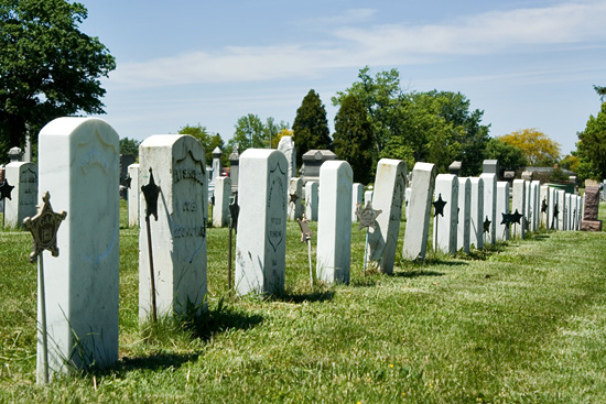 4-24 Headstones on Soldiers' Row 1