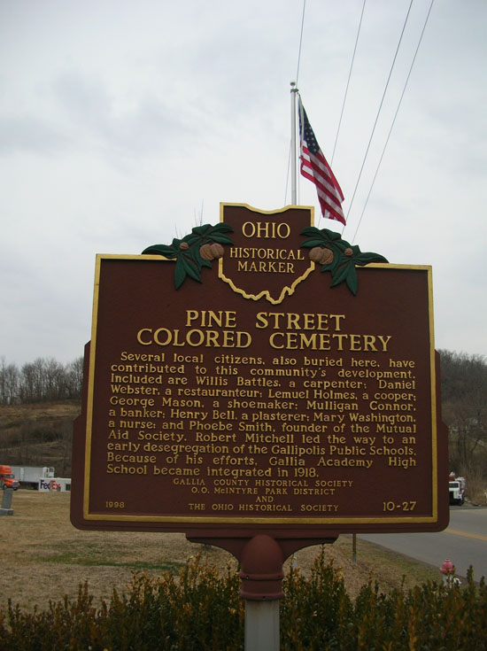 10-27 Pine Street Colored Cemetery Marker