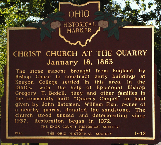 1-42 Christ Church at the quarry Marker