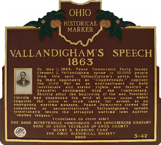5-42 Vallandigham's Speech 1863