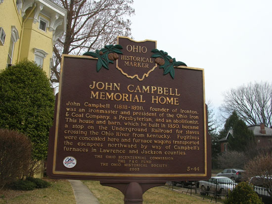 5-44 The John Campbell Memorial Home Marker