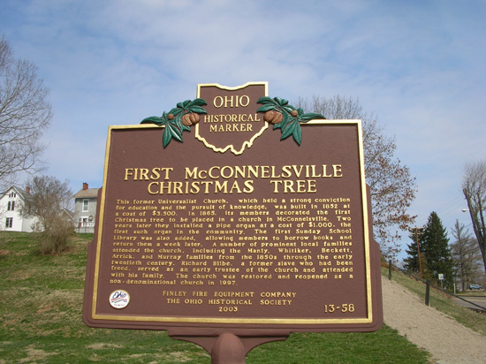 13-58 The First McConnelsville Christmas Tree Marker