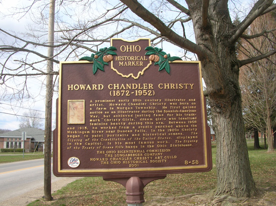 8-58 Howard Chandler Christy (1872-1952) Marker