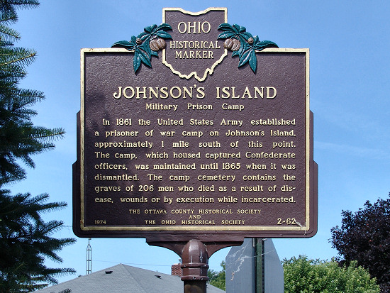Image result for johnsons island historic marker