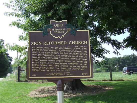 8-64 Zion Church Marker