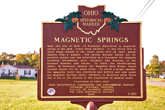 1-80 Magnetic Springs Historical Marker | Remarkable Ohio