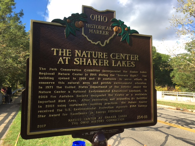 Marker 134-18 The Nature Center at Shaker Lakes